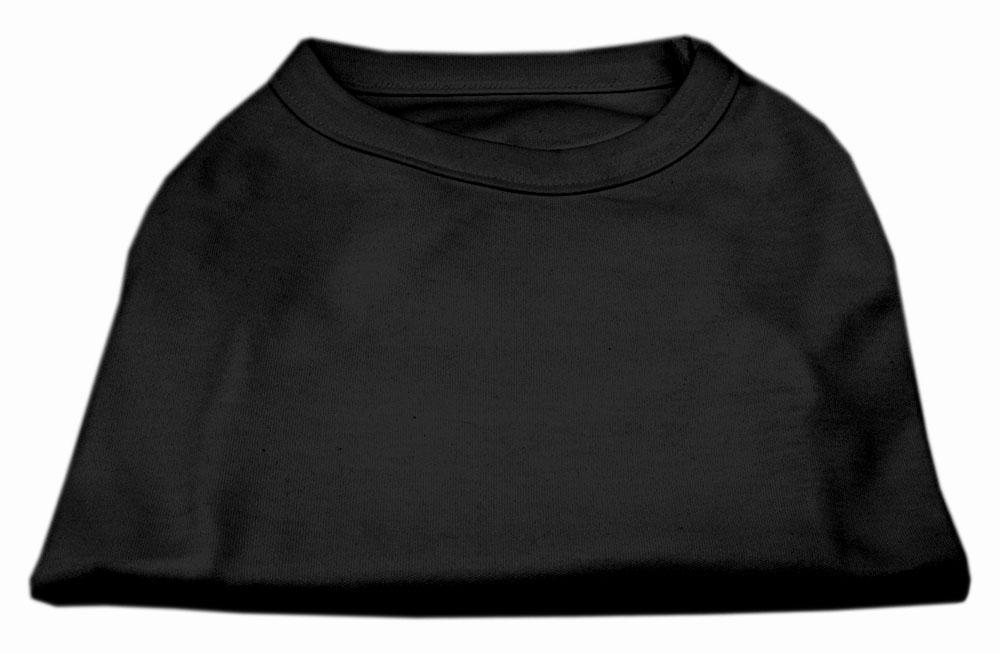 Plain Shirts Black-Dog Clothing-Bella's PetStor
