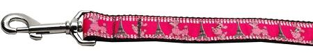 Poodles In Paris Nylon Ribbon Collars 1 Wide Leash-Dog Collars-Bella's PetStor