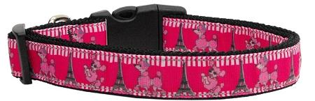 Poodles In Paris Nylon Ribbon Collars-Dog Collars-Bella's PetStor