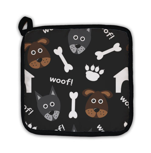 Potholder, Cartoon Pattern With Dogs-Potholder-Bella's PetStor