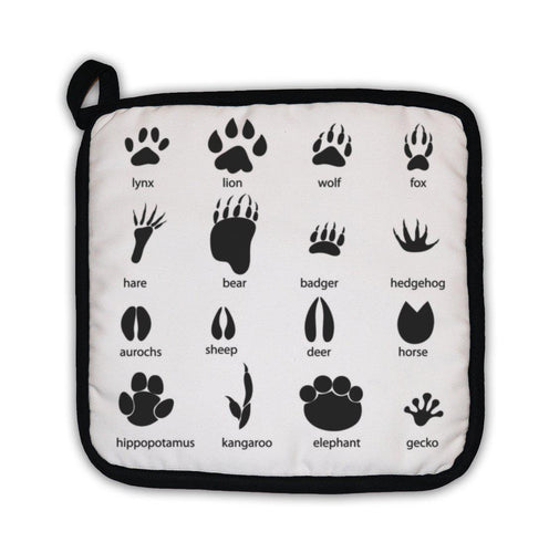 Potholder, Set Of Different Animal Tracks-Potholder-Bella's PetStor