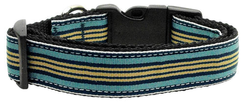 Preppy Stripes Nylon Ribbon Collars-Dog Collars-Bella's PetStor