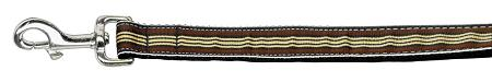 Preppy Stripes Nylon Ribbon Collars Brown/khaki Wide Lsh-Dog Collars-Bella's PetStor
