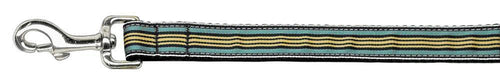 Preppy Stripes Nylon Ribbon Collars Light Blue/khaki Wide Lsh-Dog Collars-Bella's PetStor