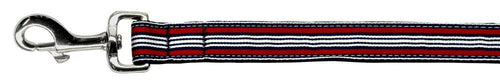 Preppy Stripes Nylon Ribbon Collars Red/white Wide Lsh-Dog Collars-Bella's PetStor