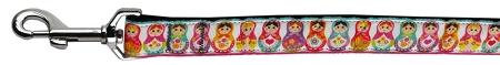 Pretty Nesting Dolls Nylon Ribbon Dog Collars 1 Wide Leash-Dog Collars-Bella's PetStor