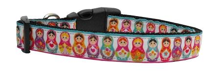 Pretty Nesting Dolls Nylon Ribbon Dog Collars-Dog Collars-Bella's PetStor