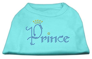 Prince Rhinestone Shirts Aqua-Dog Clothing-Bella's PetStor
