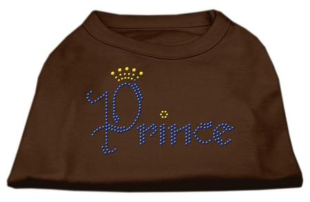Prince Rhinestone Shirts Brown-Dog Clothing-Bella's PetStor