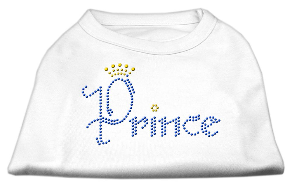 Prince Rhinestone Shirts White-Dog Clothing-Bella's PetStor