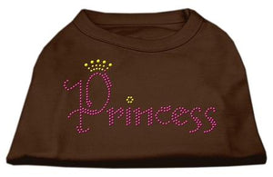 Princess Rhinestone Shirts Brown-Dog Clothing-Bella's PetStor