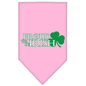 Proud to be Irish Screen Print Bandana Light Pink Large-Bandanas-Bella's PetStor