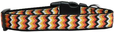 Pumpkin Chevrons Nylon Dog Collar-DOGS-Bella's PetStor