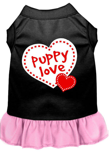 Puppy Love Dresses Black With Light Pink-Dog Clothing-Bella's PetStor