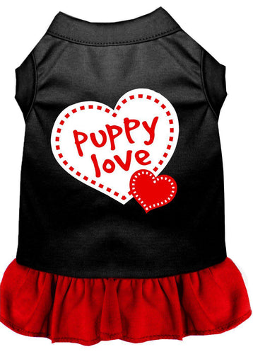 Puppy Love Dresses Black With Red-Dog Clothing-Bella's PetStor