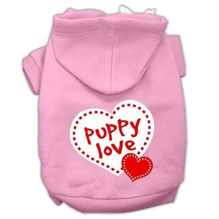 Puppy Love Screen Print Pet Hoodies Size-Dog Clothing-Bella's PetStor