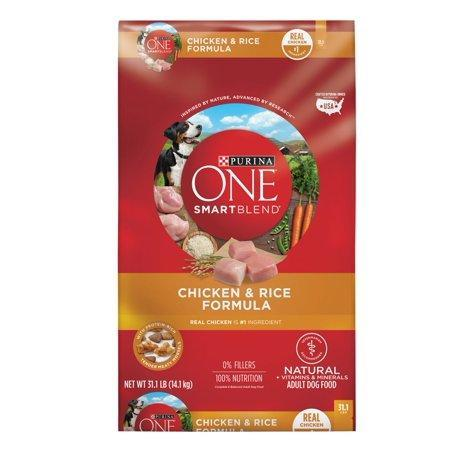 Purina ONE Natural Dry Dog Food, SmartBlend Chicken & Rice Formula - 16.5 lb. Bag-Dog Food-Bella's PetStor