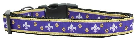 Purple And Yellow Fleur De Lis Nylon Dog-DOGS-Bella's PetStor
