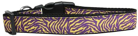 Purple And Yellow Tiger Stripes Nylon Collar-DOGS-Bella's PetStor