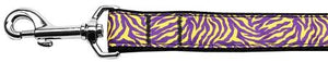 Purple And Yellow Tiger Stripes Nylon Dog Leash Inch Wide Long-DOGS-Bella's PetStor