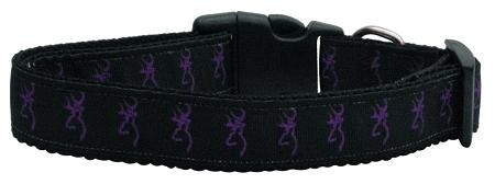 Purple Deer Nylon Dog Collar Medium Narrow-Dog Collars-Bella's PetStor