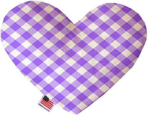 Purple Plaid Inch Canvas Heart Dog Toy-Made in the USA-Bella's PetStor