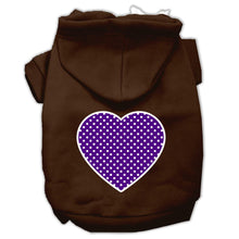 Load image into Gallery viewer, Purple Swiss Dot Heart Screen Print Pet Hoodies Size-Dog Clothing-Bella's PetStor