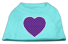 Load image into Gallery viewer, Purple Swiss Dot Heart Screen Print Shirt-Dog Clothing-Bella's PetStor