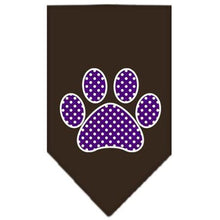 Load image into Gallery viewer, Purple Swiss Dot Paw Screen Print Bandana-Dog Clothing-Bella's PetStor