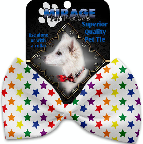 Rainbow Stars Pet Bow Tie Collar Accessory With Velcro-More-Bella's PetStor