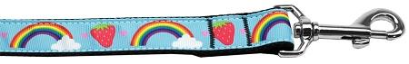 Rainbows And Berries Nylon Dog Leash Inch Wide Long-Dog Collars-Bella's PetStor