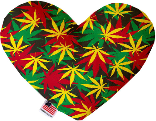 Rasta Mary Jane Inch Canvas Heart Dog Toy-Made in the USA-Bella's PetStor