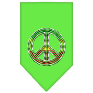 Rasta Peace Rhinestone Bandana-Dog Clothing-Bella's PetStor