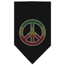 Load image into Gallery viewer, Rasta Peace Rhinestone Bandana-Dog Clothing-Bella's PetStor