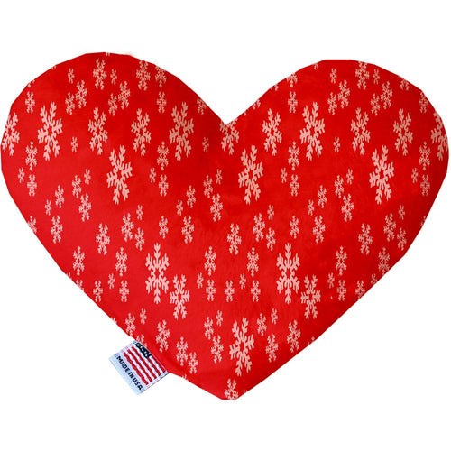 Red And White Snowflakes Inch Heart Dog Toy-Christmas, Hannakuh-Bella's PetStor