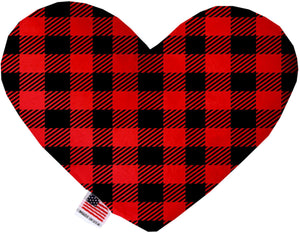 Red Buffalo Check Inch Canvas Heart Dog Toy-Made in the USA-Bella's PetStor
