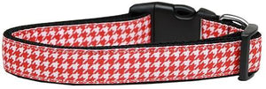 Red Houndstooth Nylon Collar-DOGS-Bella's PetStor