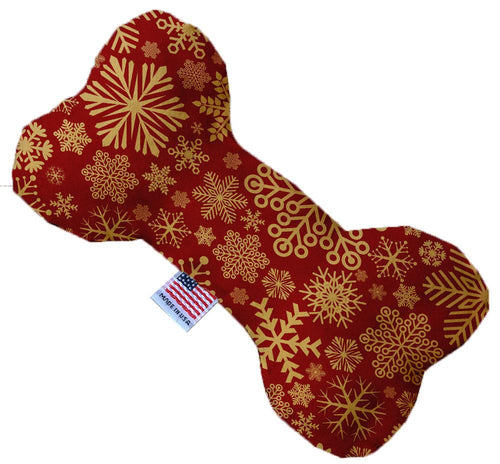 Red Snowflakes 10 Inch Bone Dog Toy-Christmas, Hannakuh-Bella's PetStor