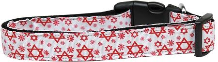 Red Star Of David Nylon Dog Collar-Dog Collars-Bella's PetStor