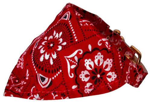 Red Western Bandana Collars Red-Christmas, Hannakuh-Bella's PetStor