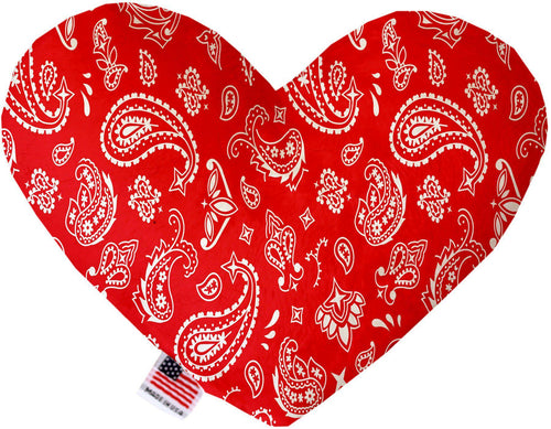 Red Western Inch Canvas Heart Dog Toy-Made in the USA-Bella's PetStor