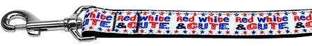 Red, White, And Cute! Nylon Dog Leash Inch Wide Long-DOGS-Bella's PetStor