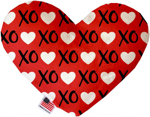 Red Xoxo Inch Canvas Heart Dog Toy-Made in the USA-Bella's PetStor