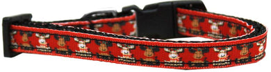 Reindeer Nylon Ribbon Cat Safety Collar-Dog Collars-Bella's PetStor