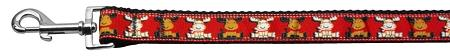 Reindeer Nylon Ribbon Collars 1 Wide Leash-Dog Collars-Bella's PetStor
