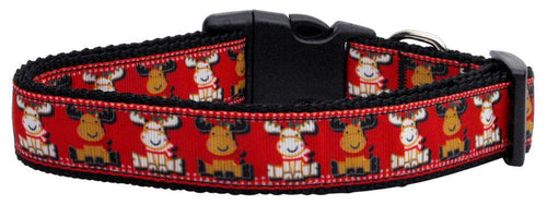 Reindeer Nylon Ribbon Dog Collar-Dog Collars-Bella's PetStor