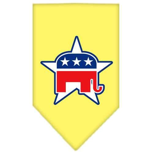 Republican Screen Print Bandana Yellow Large-republican screen print bandana-Bella's PetStor