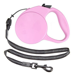 Retractable Dog Leash, 10-foot, Pink, Extra-Small-Pet leashes-Bella's PetStor