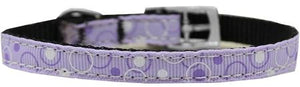 "Retro Nylon Dog Collar With Classic Buckle 3/8"" Size-Dog Collars-Bella's PetStor"