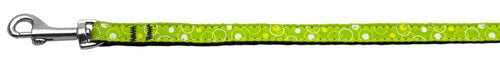 Retro Nylon Ribbon Collar Lime Green 3/8 Wide Lsh-Dog Collars-Bella's PetStor